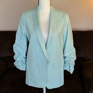 NY&Co Linen Open Blazer Suit Jacket